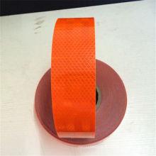 Fita reflexiva laranja PVC + Pet para segurança rodoviária