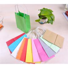210 * 80 * 170 mm saco de compras de papel a cores com alça