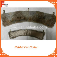 Le meilleur collier de fourrure de lapin brun naturel