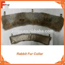 Лучшие Продажи Естественный Коричневый Кролик Меховым Воротником