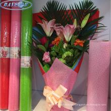 papel de envoltura impermeable estampado tela no tejida para flor