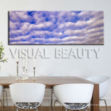 Cópia panorâmico da lona do céu azul natural na lona