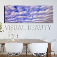 Натуральное синее небо Панорамная живопись Печать на холсте