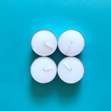 Paraffin Wax White Unscented Tealight Lilin Pasar Rusia