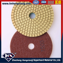 4''wet Almofadas de polimento de diamante para piso de concreto e granito