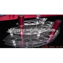 Affichage acrylique clair pour le rouge à lèvres