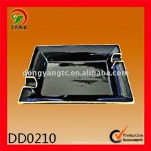 cenicero de cerámica negro diseñado por encargo del diseñador, diseño del cenicero