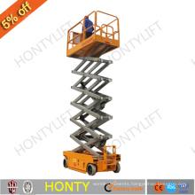 electro hydraulic mobile self propelled scissor lift