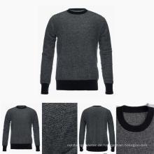 Herren Rundhalsausschnitt 100% Bestnote Pure Cashmere Pullover mit Mustern