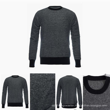 Men′s Crew Neck 100% Top Grade Pure Cashmere Sweater with Patterns
