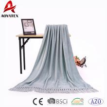 Best quality home textile melange yarn throw blanket for sale