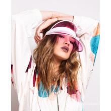 UV protection transparent pvc sun visor cap