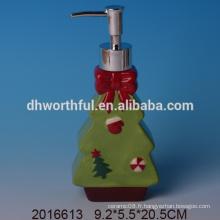 Distributeur personnalisé de lotion en céramique en forme de sapin, bouteilles de lotions décoratives