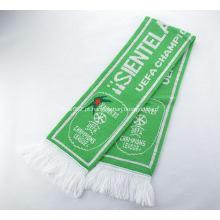 Promocionais cor verde impresso malha cachecol