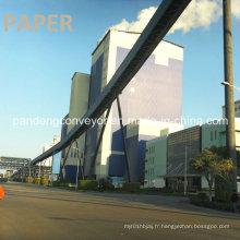 Convoyeur à bande de courbure de plan de longue distance / application incurvée de Coneyor de bande dans les industries du papier