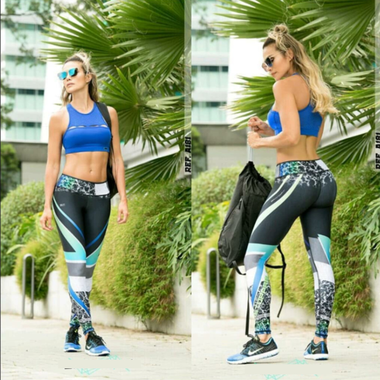 High Quality Nylon Spandex Moisture Wicking Gym Tights Leggings