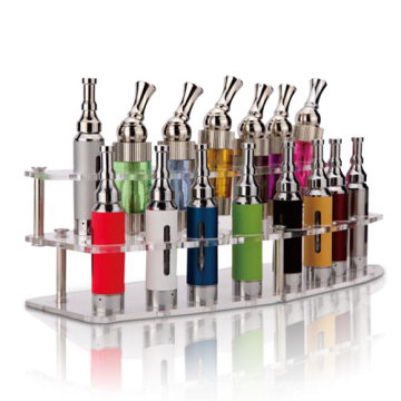 Two Tier Clear E-Cigarette Display, Transparent Acrylic E-Cigarette Holder