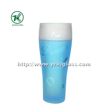 Blue Glass Bottle by BV (6.5*5*18 280ML)