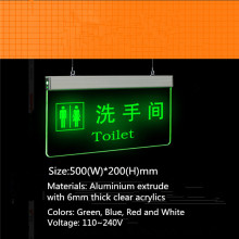 Hanging LED Directional Toilet Door Signs