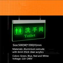 Colgante LED direccional muestras de la puerta de WC