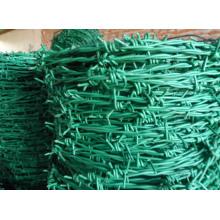 Green PVC arame farpado