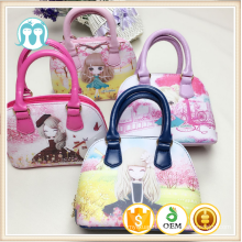 One piece lovely Cartoon Pattern Handbags, Girls Tote Bags With yellow/ pink handbags for girls one piece characters wholesale