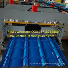 hoja de metal panel de tejado máquina panel de tejado vidriado rodillo que forma la máquina