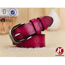 Роза красочные джинсы пояса сплит кожаный ремень с твердой пряжкой пряжки ремня для женщин