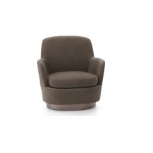 Living room leisure round salon velvet sofa chair with upholstered cushion armchair