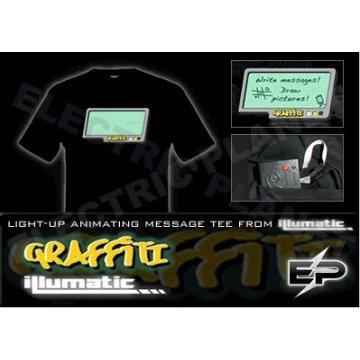 [Stunningly]Wholesale fashion hot sale T-shirt A108,el t-shirt,led t-shirt