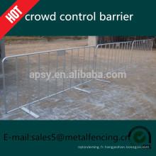 Barrière galvanisée adaptée aux besoins du client de contrôle de foule, barrières pour piétons à vendre