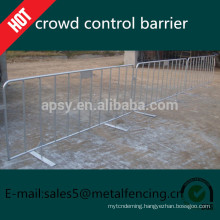 Customized galvanised metal crowd control barrier, pedestrian barriers for sale