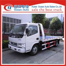Dongfeng dlk um reboque dois caminhões de reboque flatbed
