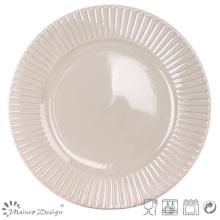 """Plato de cena en relieve de 10.5 """"de alta calidad"""