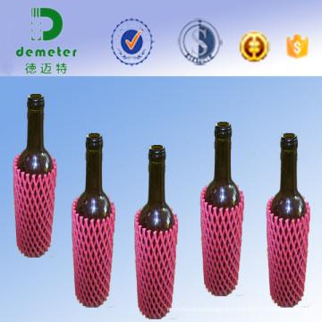 Approbation faite par la FDA filet fait sur commande de mousse de bouteille de 20cm EPE utilisé en Australie, Hong Kong, Etats-Unis