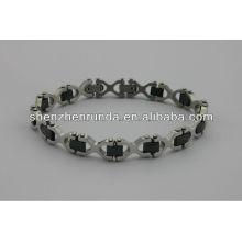China fabricante, 2014 moda pulseira de aço inoxidável magnética, requintado e charme para as mulheres pulseira