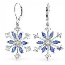 Schöne Schnee Sterling Silber Ohrringe