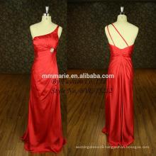 Famous Designer Simple One Shoulder Red Evening Satin Cocktail Maxi Dress