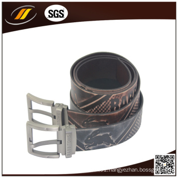 High Quality Alloy Pin Buckle Durable Genuine Leather Men′s Belt
