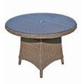 Jardim de vime redondo do pátio ao ar livre do Rattan móveis mesa de jantar