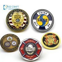 Manufacturer no minimum metal logo 3D enamel masonic bulk cheap  souvenir firefighter navy army custom military challenge coin