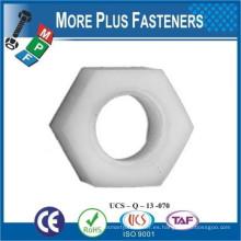 Hecho en Taiwán Metric Negro Nylon hexagonal Plástico Tuerca