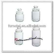 D222 Round Glass Jar With Lid