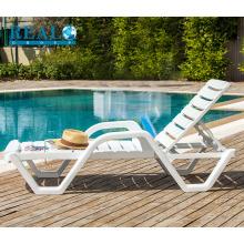 Atacado de móveis ao ar livre cadeiras de praia branco PVC portátil sun lounge piscina cadeira