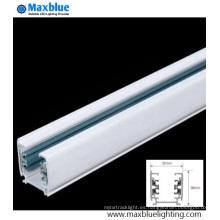 Blanco / Negro / Plata Color Barra de aluminio de la barra de ferrocarril para la luz de la pista del LED
