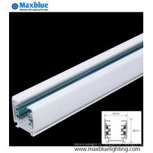 Blanc / Noir / Argent Couleur Barre de rail en aluminium pour LED Light Track