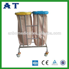 Stainless steel rubbish cart