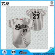 Profesional de venta al por mayor Sublimación en blanco en blanco jersey de béisbol