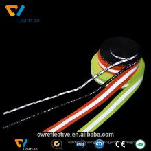 fita reflexiva colorida visível alta da segurança para o colete reflexivo