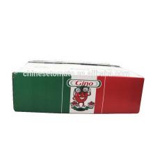 Doppelte konzentrierte eingemachte Tomaten-Paste von Gino-Marke für Italien-Markt